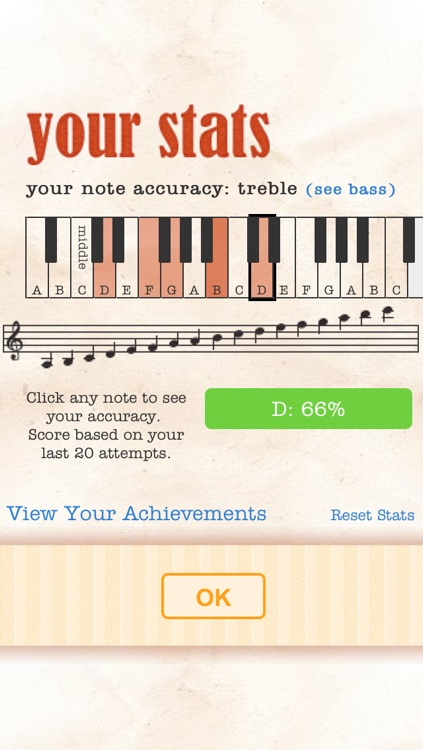 Note Trainer - sight reading for piano screenshot-4
