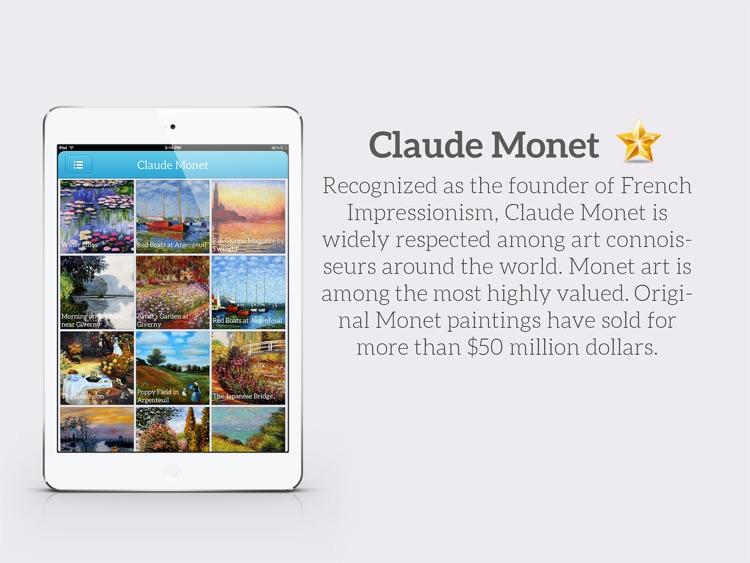 Art Gallery HD for iPad - Van Gogh , Monet , Klimt , Renoir screenshot-3