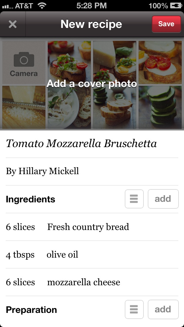 Foodily Recipe Sharing with Friends Screenshot
