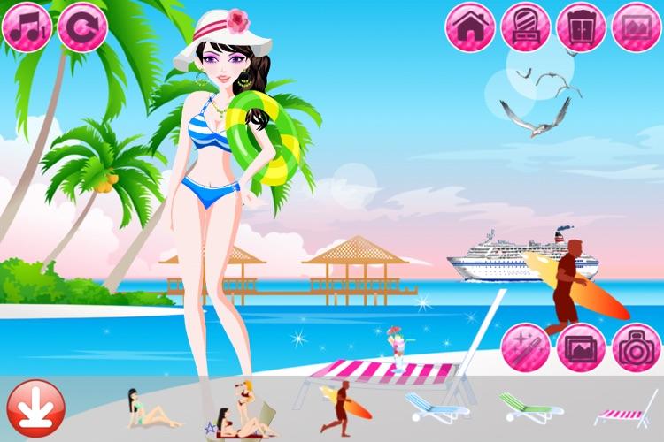 Beach Fashion Lite - Dress up and Makeup Game screenshot-3