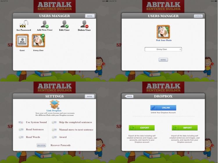 Sentence Builder for Special Needs Children screenshot-4