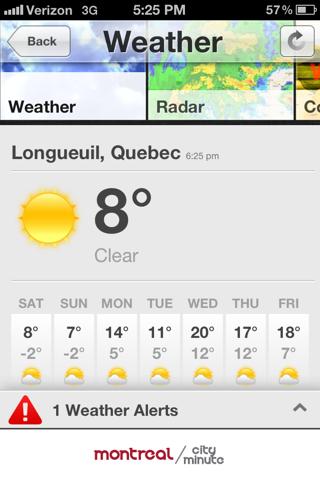Montréal CityMinute screenshot 2