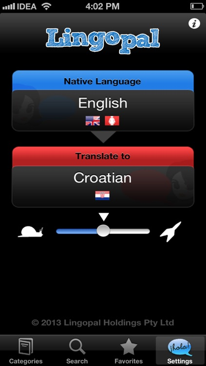 Lingopal Croatian LITE - talking phrasebook