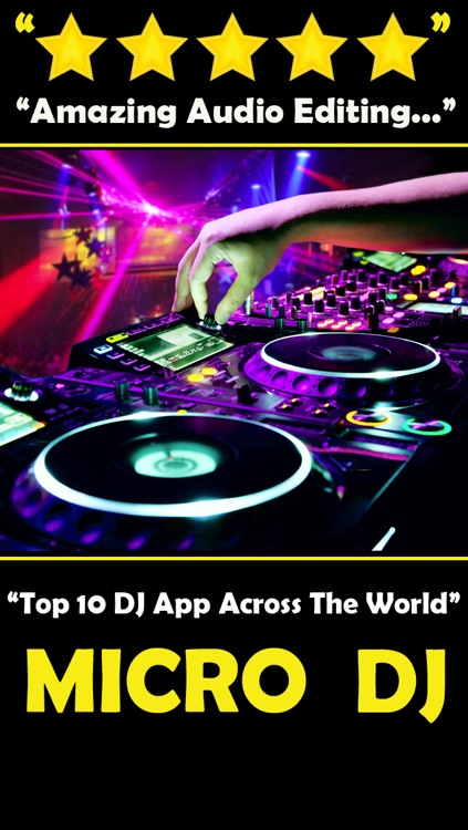 Micro DJ Pro - Party music audio effects and mp3 songs editing
