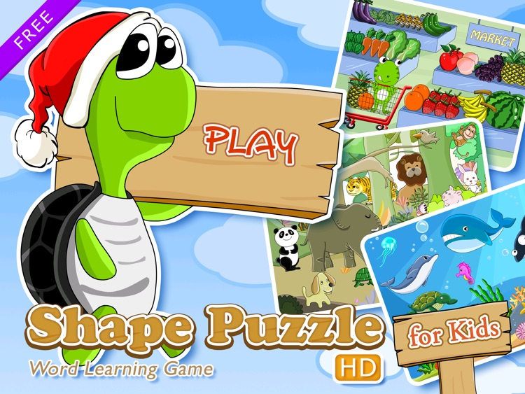 Shape Puzzle HD Free - Word Learning Game for Kids