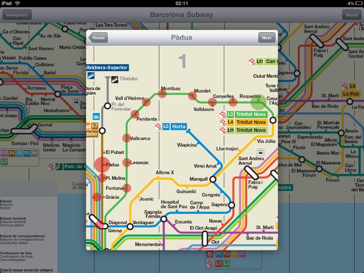Barcelona Subway for iPad screenshot-3