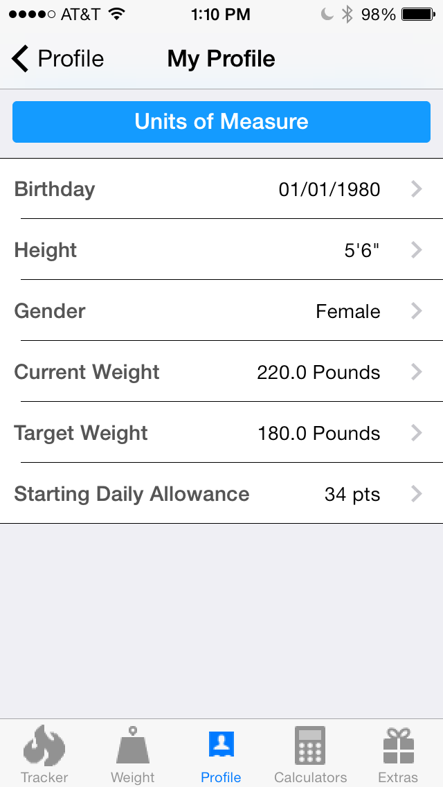 Pts. Calculator With Weight and Exercise Tracker for Weight Loss - Fast Food and Calorie Watchers Diary App by Awesomeappscenterのおすすめ画像3