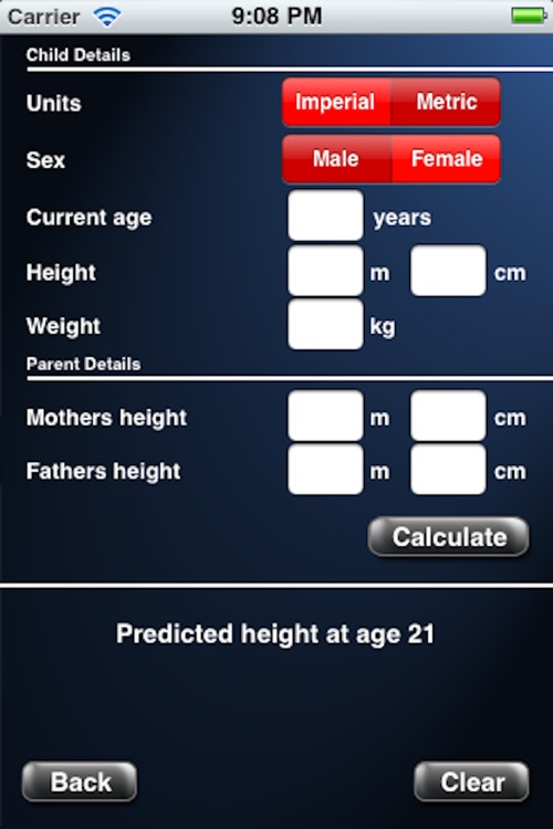 Adult Height Calculator
