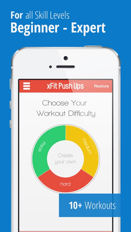 xFit Push Ups – Do 100 Pushups Trainer Daily Chest Workout Challenge for Lean Sculpted Muscles