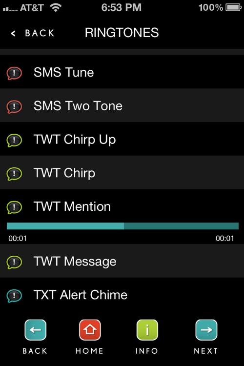 Text Tones & Alerts