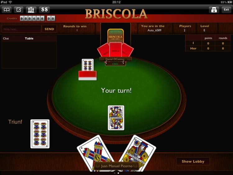 Briscola Playing game