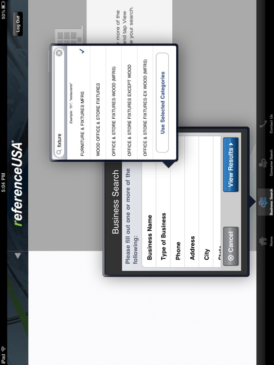 ReferenceUSA for iPad