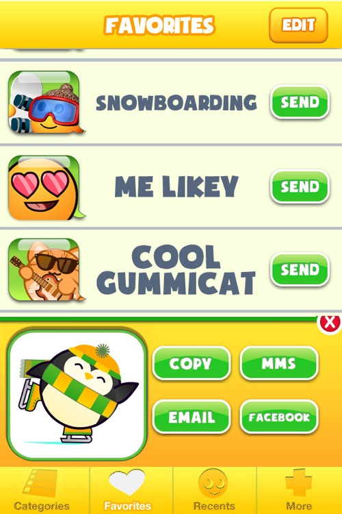Gummibuddies - Emoticon, Smiley and Emoji to Text and Share screenshot-3