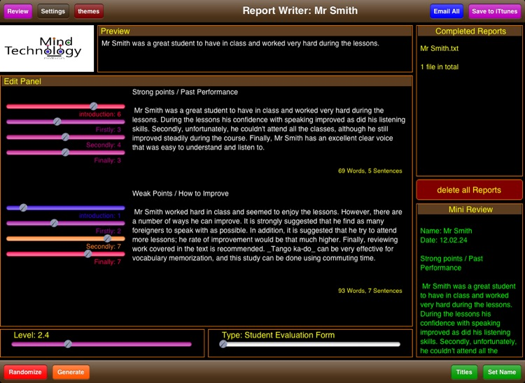 Student Report Writer screenshot-3