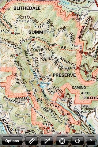 Mt Tam Trail Map screenshot-4