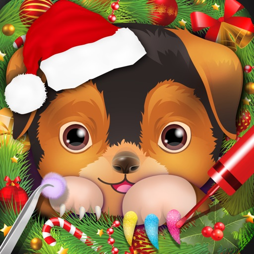 Christmas Pets Nail Salon - kids games