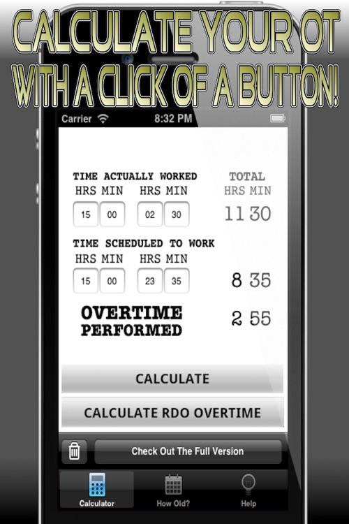 Cop's Overtime Calculator - Free