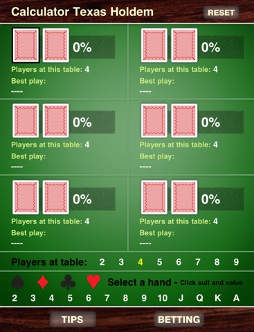 Calculator Texas Holdem Скриншоты5