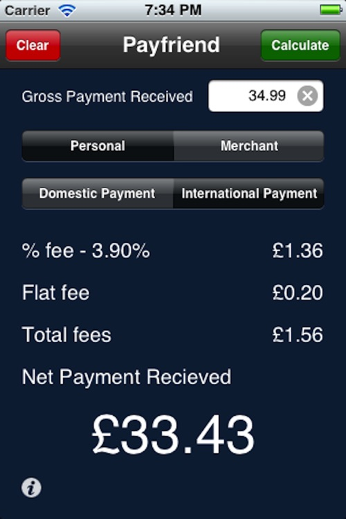 Payfriend - UK Paypal fee calculator screenshot-3