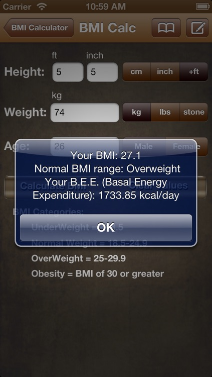 BMI Calc Free screenshot-2