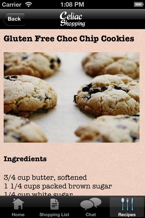 Celiac Shopping List & Gluten Free Recipes screenshot-4