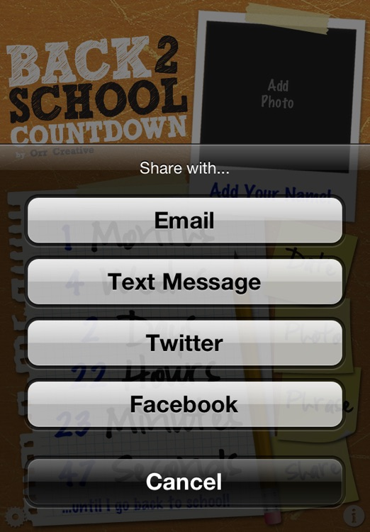 Back To School Countdown screenshot-4