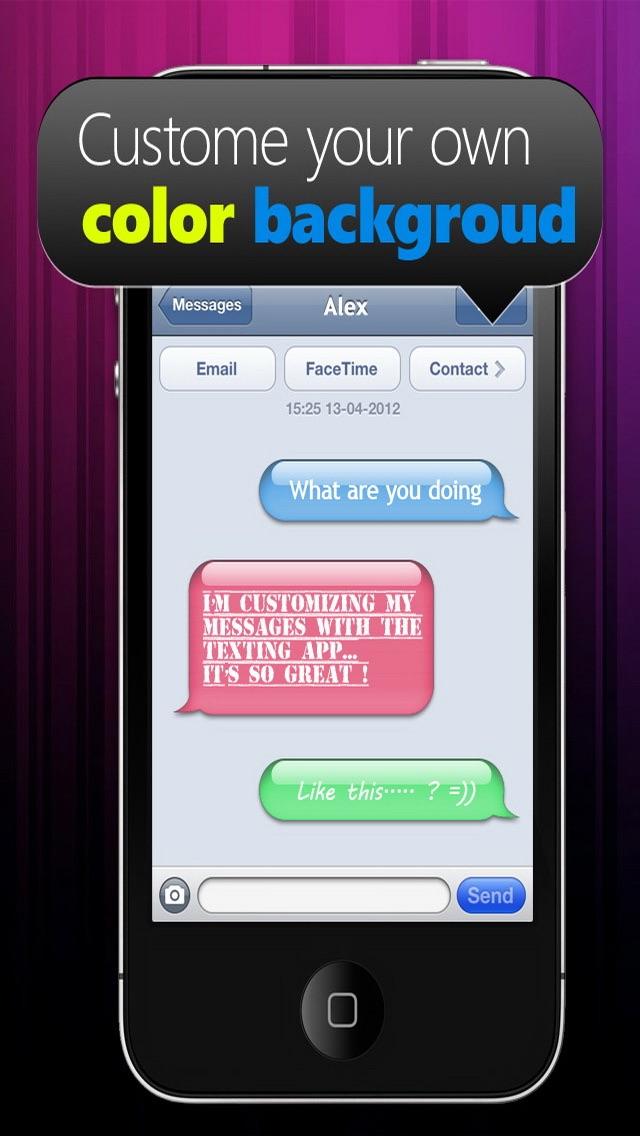 Farben & Schriften – Individuelle Gestaltung deiner Nachrichten GratisScreenshot von 4