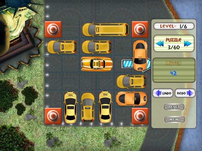 Mundial de estacionamiento de taxis y de tráfico juego de puzzle HD Screenshot