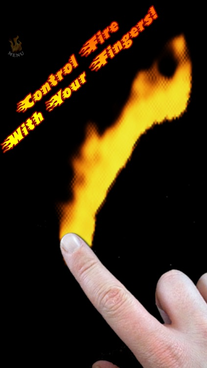 Draw with FIRE! Burn something with your FINGERS!!