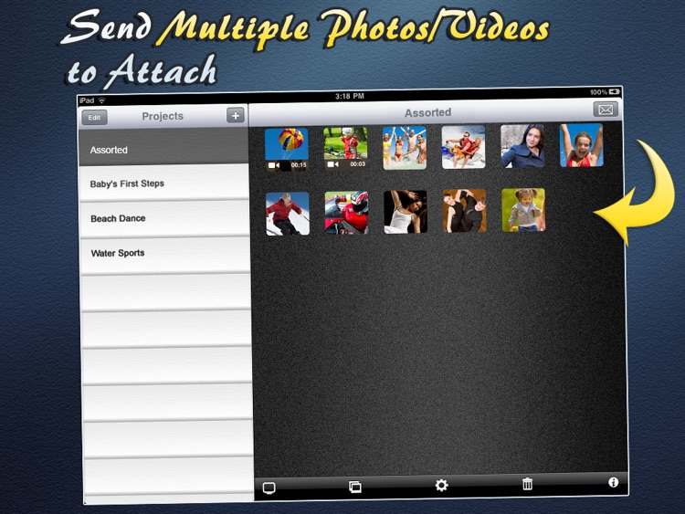 Video (& Photos) Email For iPad