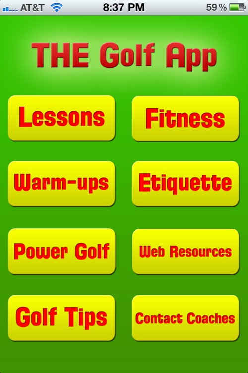 THE Golf App screenshot-0