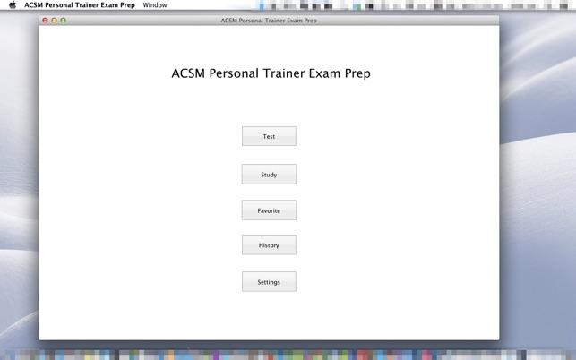 ACSM Personal Trainer Exam Prep on the Mac App Store