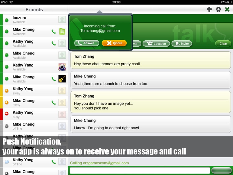 Voice Chat for Google Talk HD screenshot-3