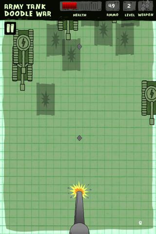 Ejército de Tanques de Guerra Doodle - Una Defensa Super Fun Juego Batalla Libre ( Army Tank Doodle War Free Game )Captura de pantalla de2