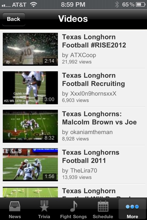 Texas Longhorns Football Trivia and More screenshot-4