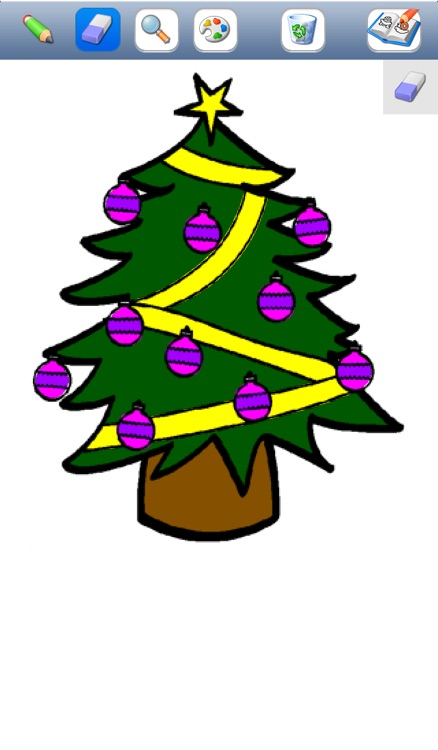Christmas colorings for kids with colored pencils - 24 drawings to color with Santa Claus, christmas trees, elves, and more screenshot-3