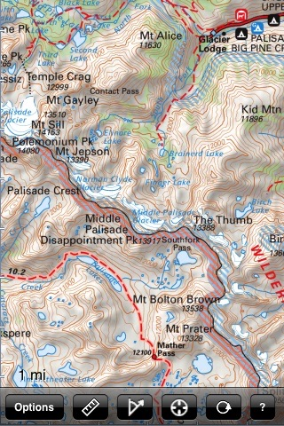 Sequoia and Kings Canyon National Park Recreation Map