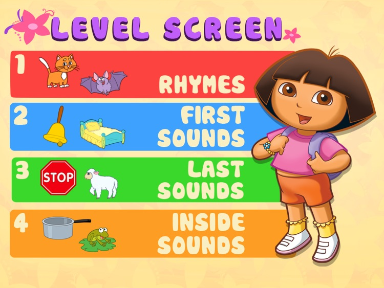 Dora ABCs Vol 2:  Rhyming Words HD screenshot-3