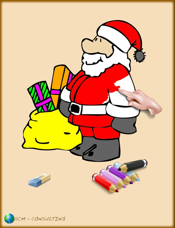 Christmas colorings for kids with colored pencils - 36 drawings to color with Santa Claus, christmas trees, elves, and more - FREE
