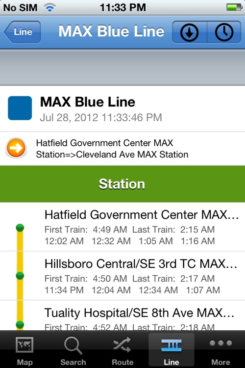 TransitGuru Portland TriMet MAX screenshot-2
