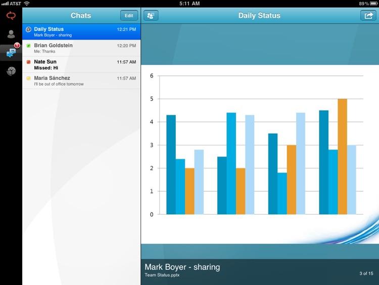 Microsoft Lync 2010 for iPad screenshot-3