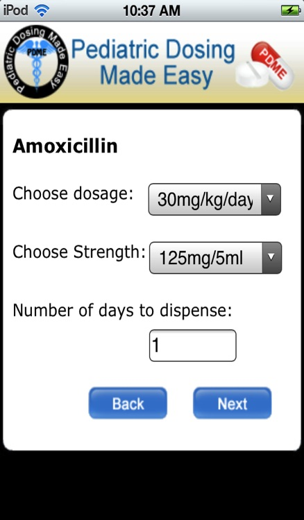 Pediatric Dosing Made Easy (PDME) screenshot-0