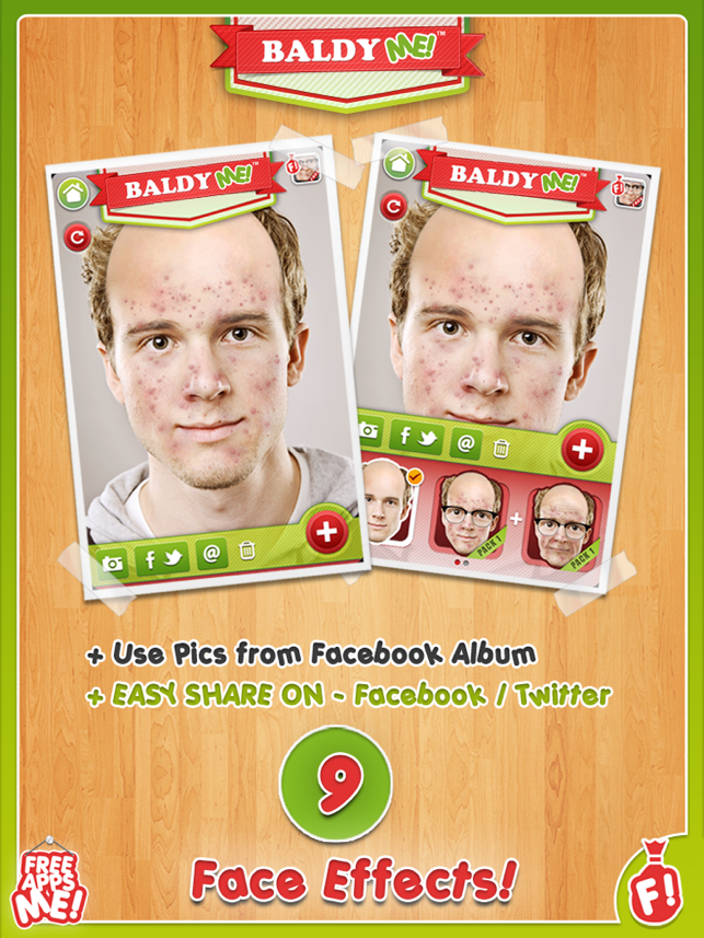 Baldy me hd free bald old and no hair selfie yourself with hd free bald old and no hair selfie yourself with animal face photo booth effects maker on the app store solutioingenieria Gallery