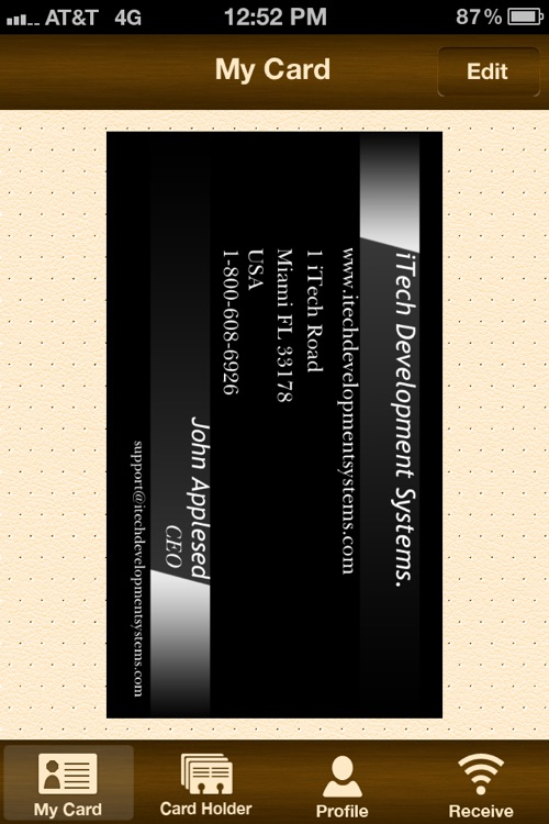 BizCard - Sharing and Virtual Business Card Holder screenshot-4