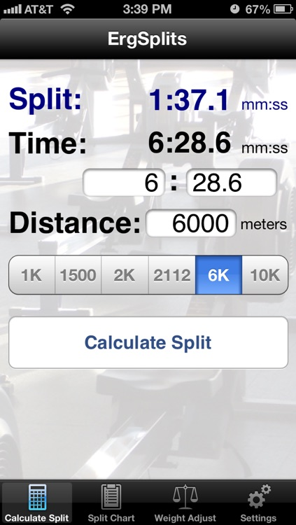 ErgSplits screenshot-0