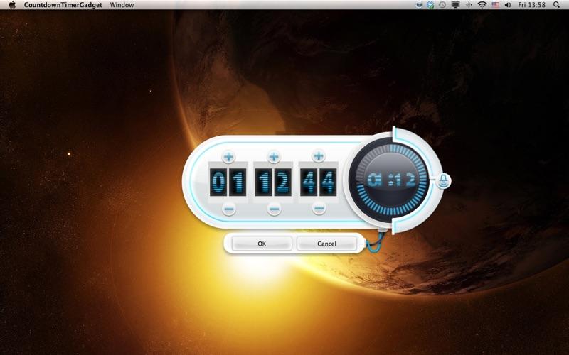 Nedräkningstimer Gadget på PC