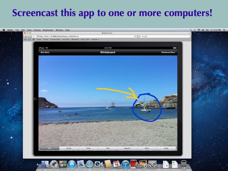 Wireless Whiteboard for iPad