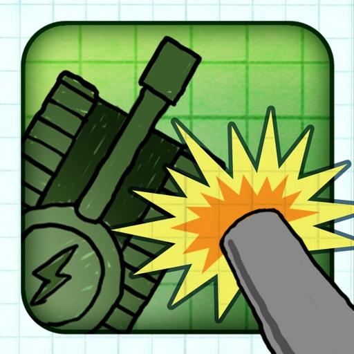Army Tank Doodle War - A Super Fun Defense Cartoon Battle Free Game iOS App