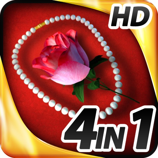 Hidden Objects - 4 in 1 - Romance Pack HD