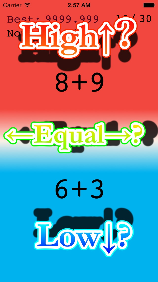 SwipeHigh+ -Challenge Your Algebra/Math Skill!